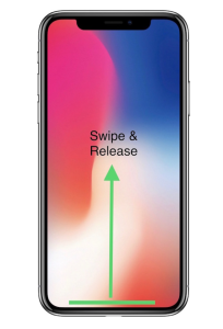 The iPhone X does not have the Home button seen on previous models